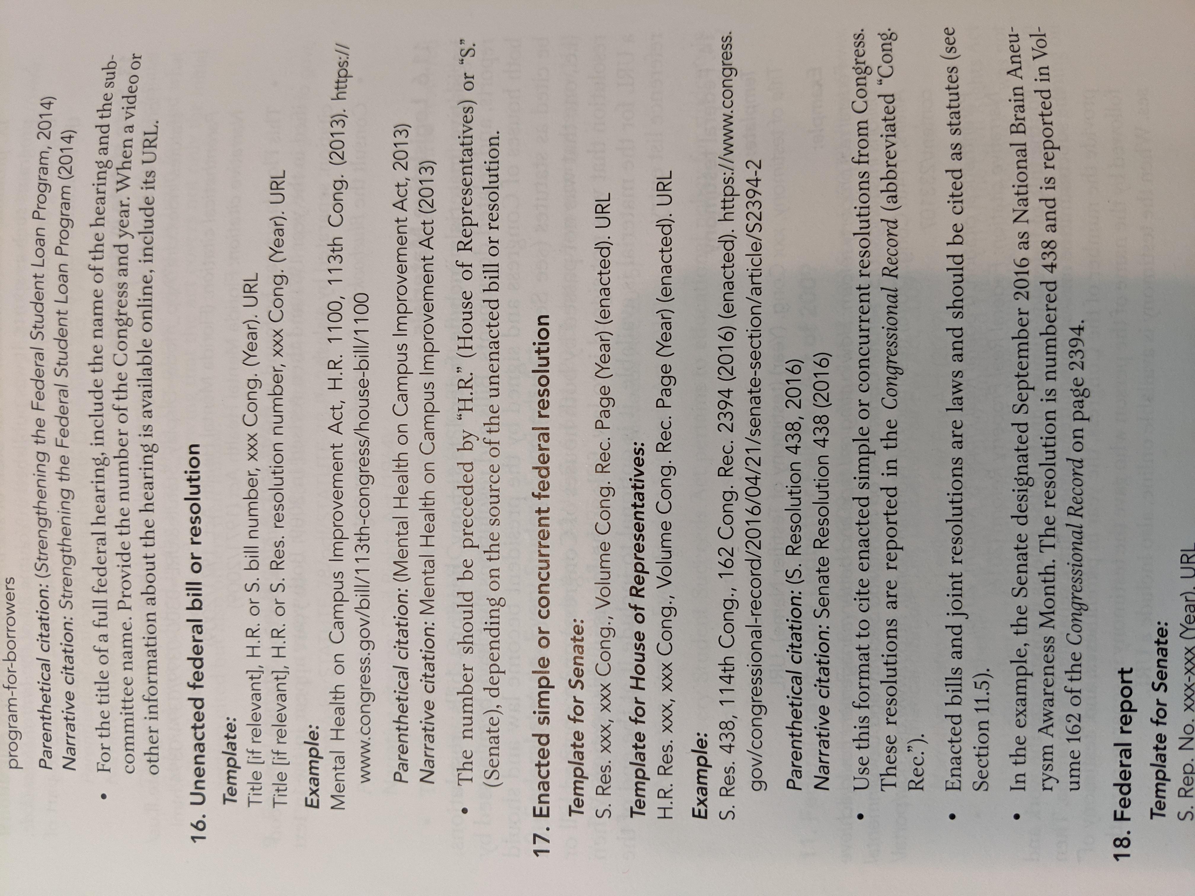 Citing legislation APA 7th