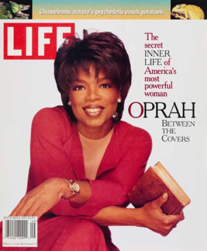 life magazine cover with oprah winfrey pictured