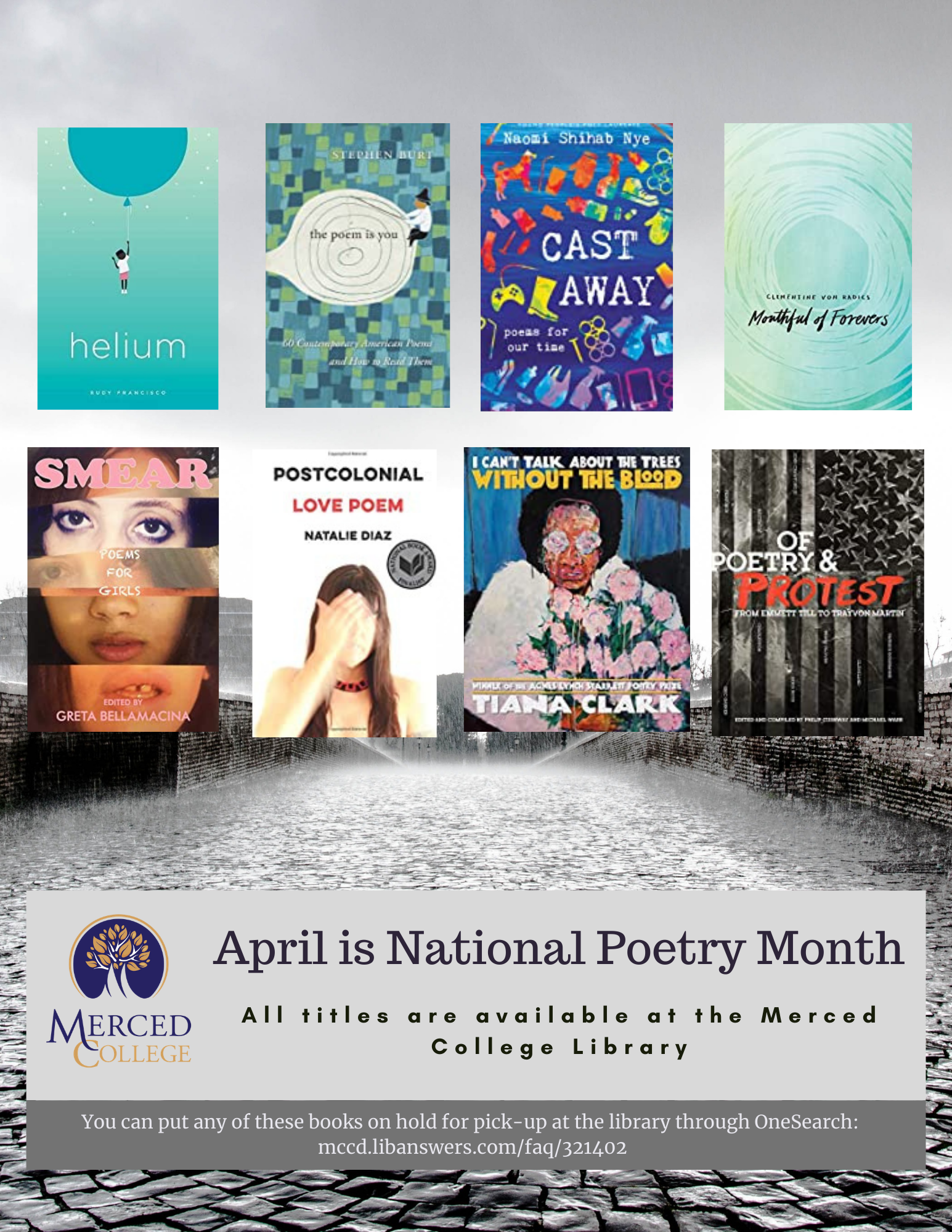 Poetry Month Book Titles and Images
