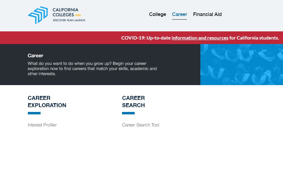 California College Career and Interest links
