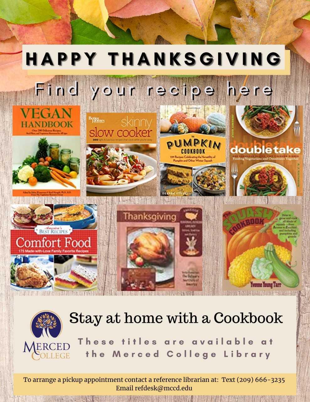 List of Thanksgiving Cookbooks