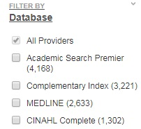 Filter by Database option