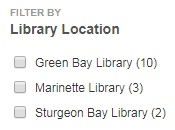 filter by library location option
