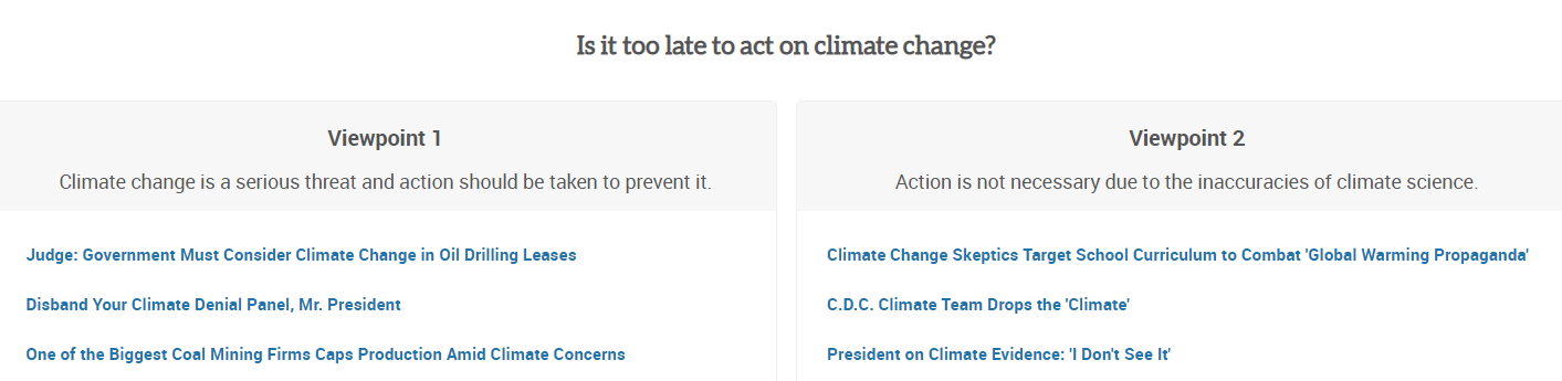 Is it too late to act on climate change?