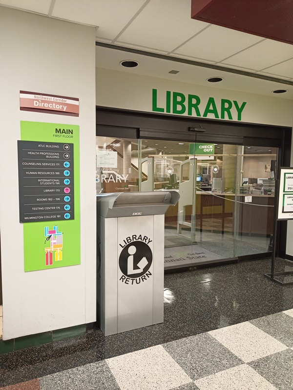 New Book Drop Located Outside of Library