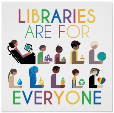 Libraries are for everyone by Hafuboti.