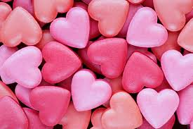 small pink and red candy hearts