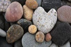 small rocked shaped hearts loosely stacked on one another