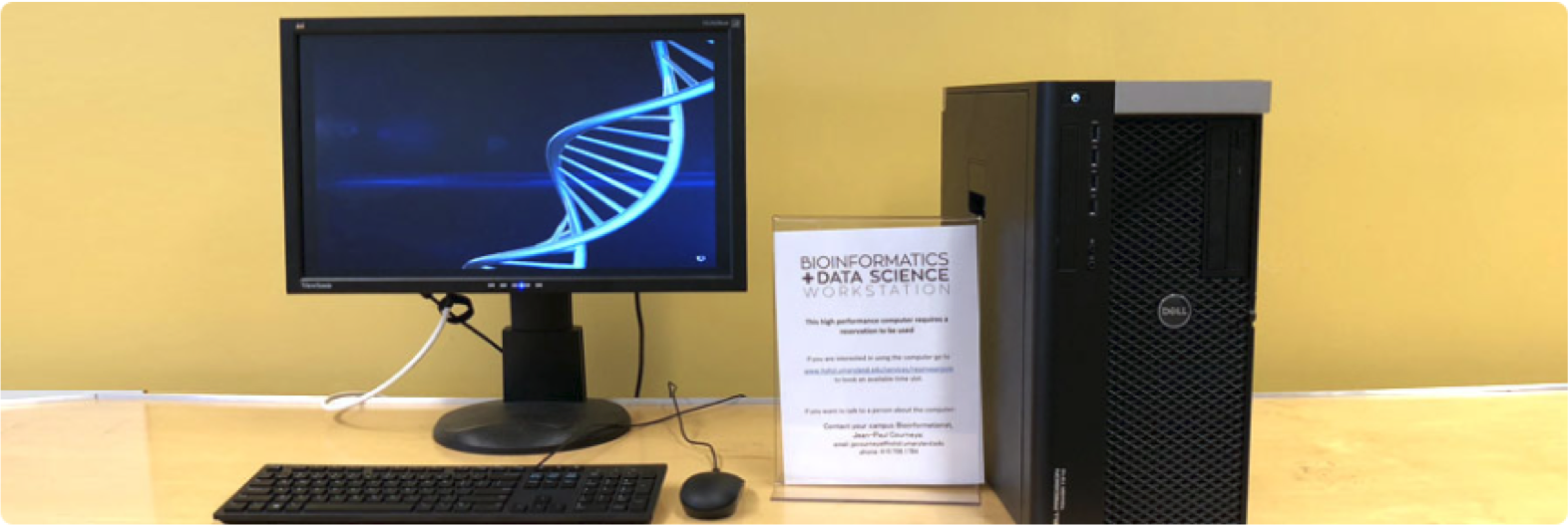 An image of the Bioinformatics and Data Science Workstation