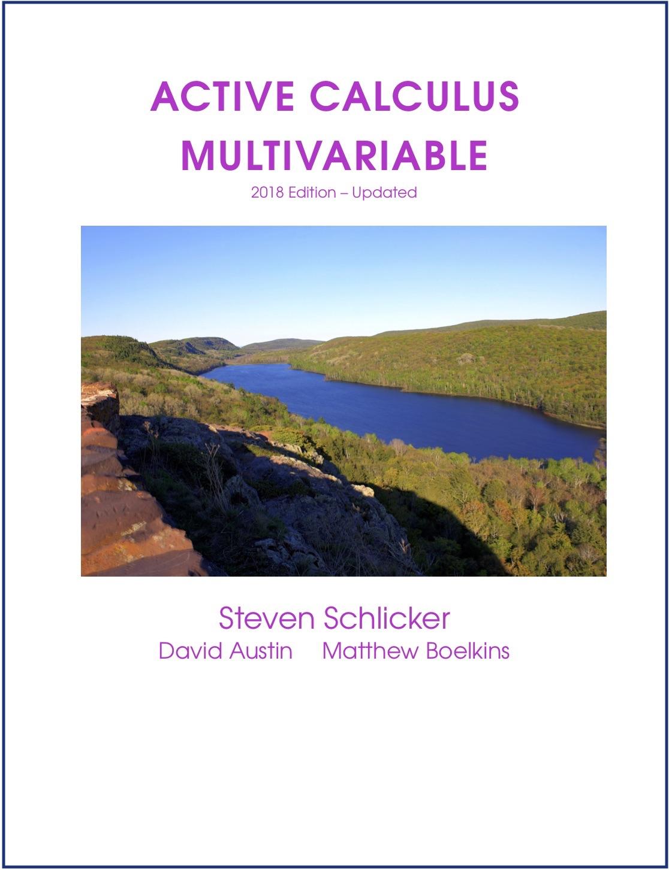 Active Calculus Multivariable
