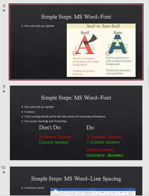 images on own slides
