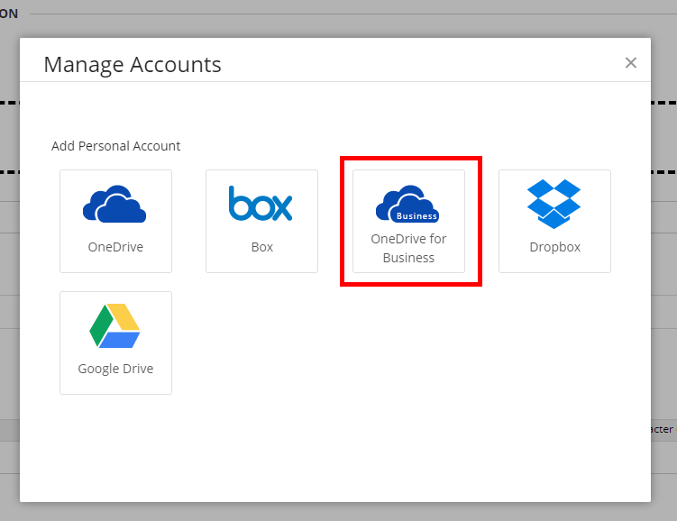 the third option is onedrive for business