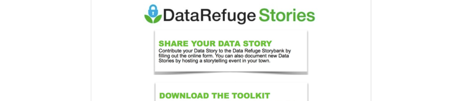 DataRefuge Stories - An Omeka Community Project