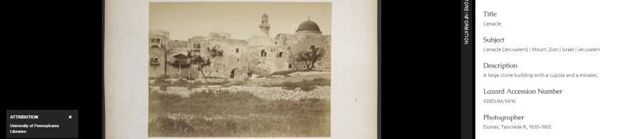 Penn Libraries Holy Land Digital Image Collections