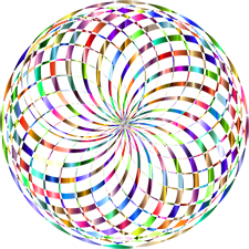 prismatic globe, no background