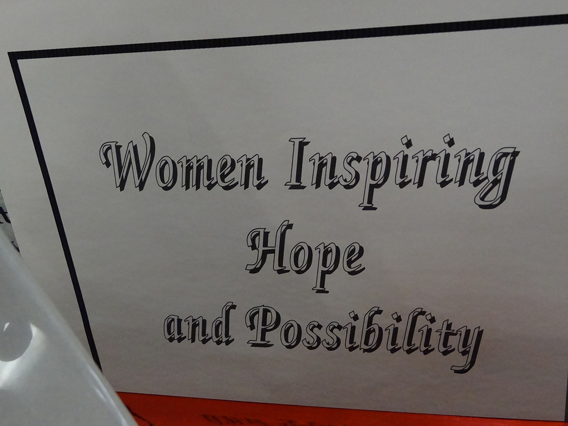 text that reads: women inspiring hope and possibility