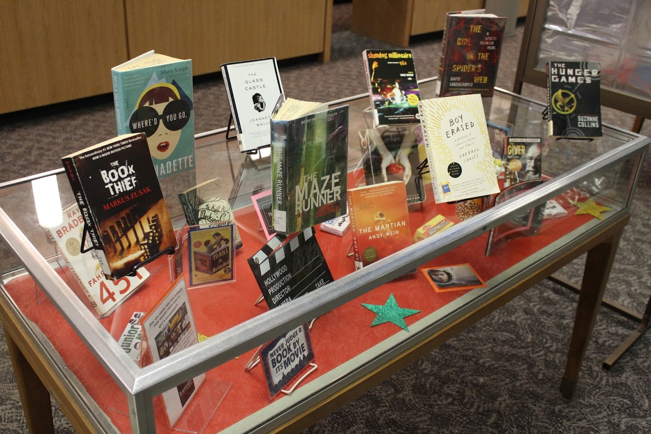 photo of library display