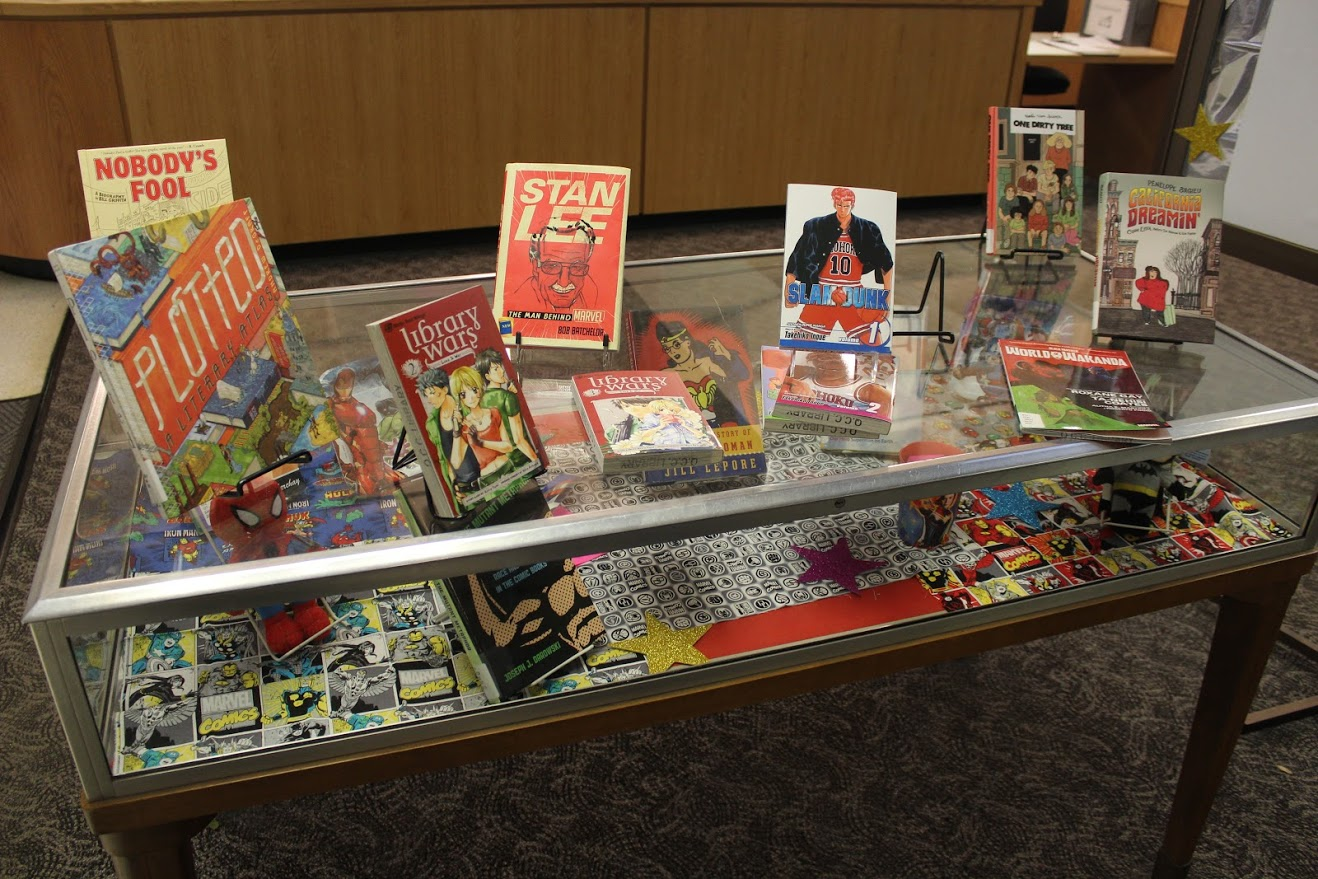 library display - left side