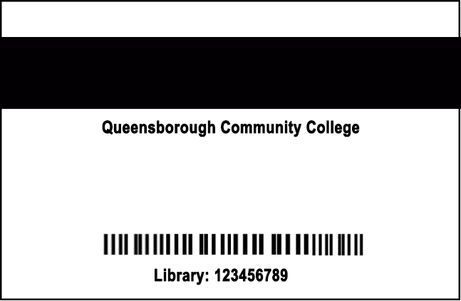 back of TigerCard with Library number