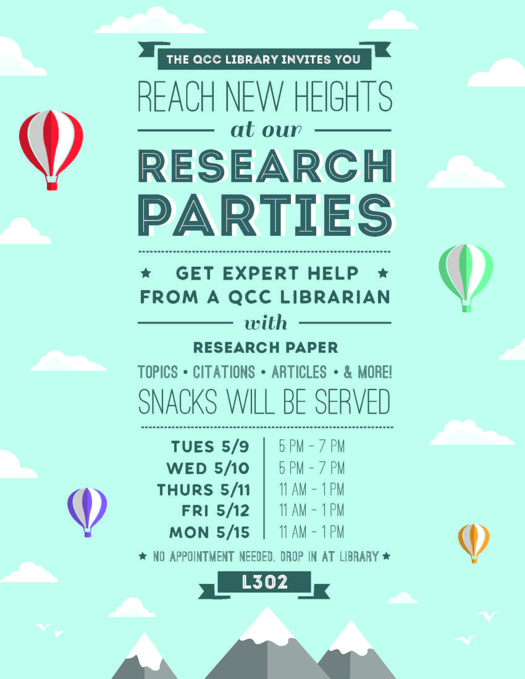 Flier for Research Parties - Spring 2017