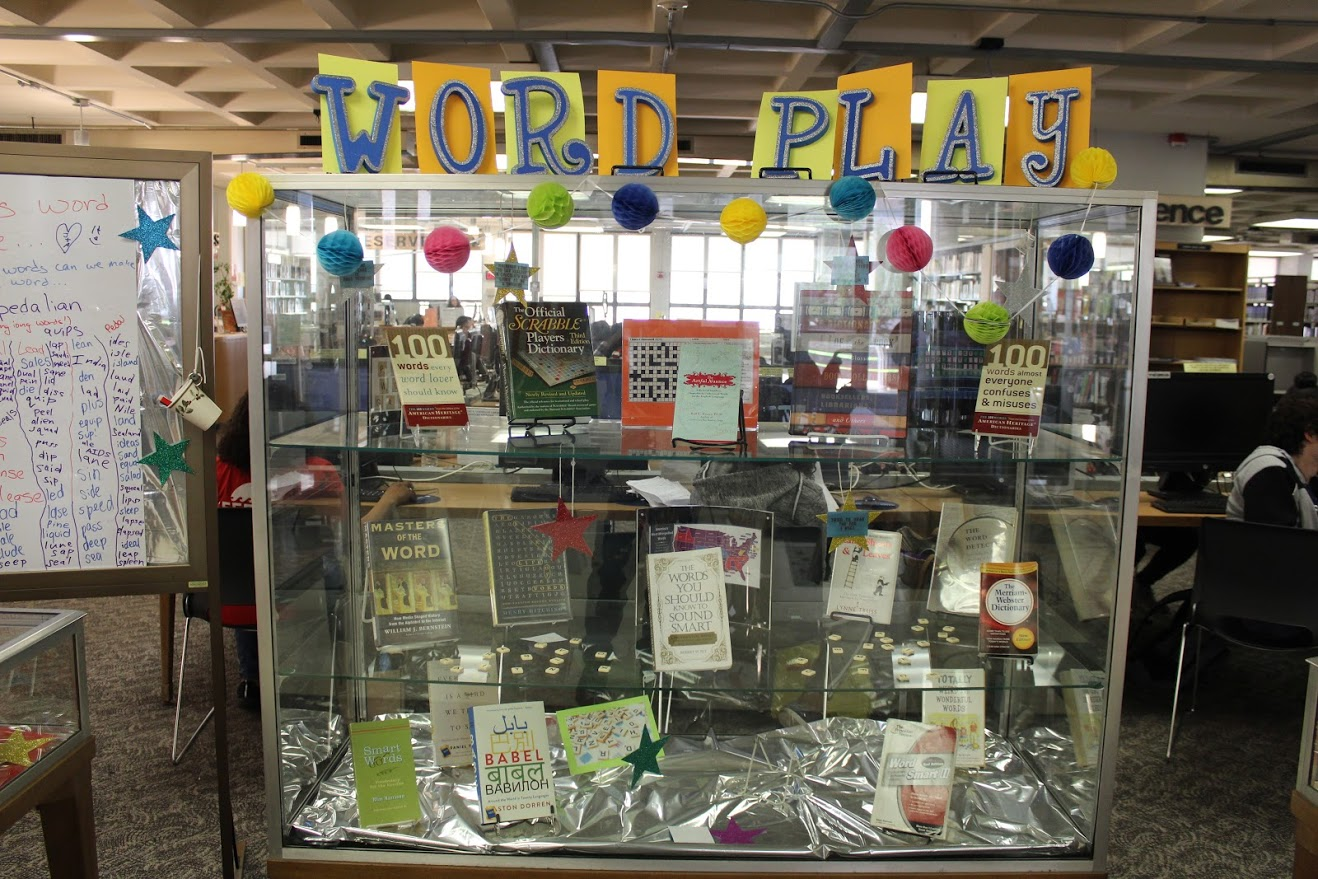 library display for word play