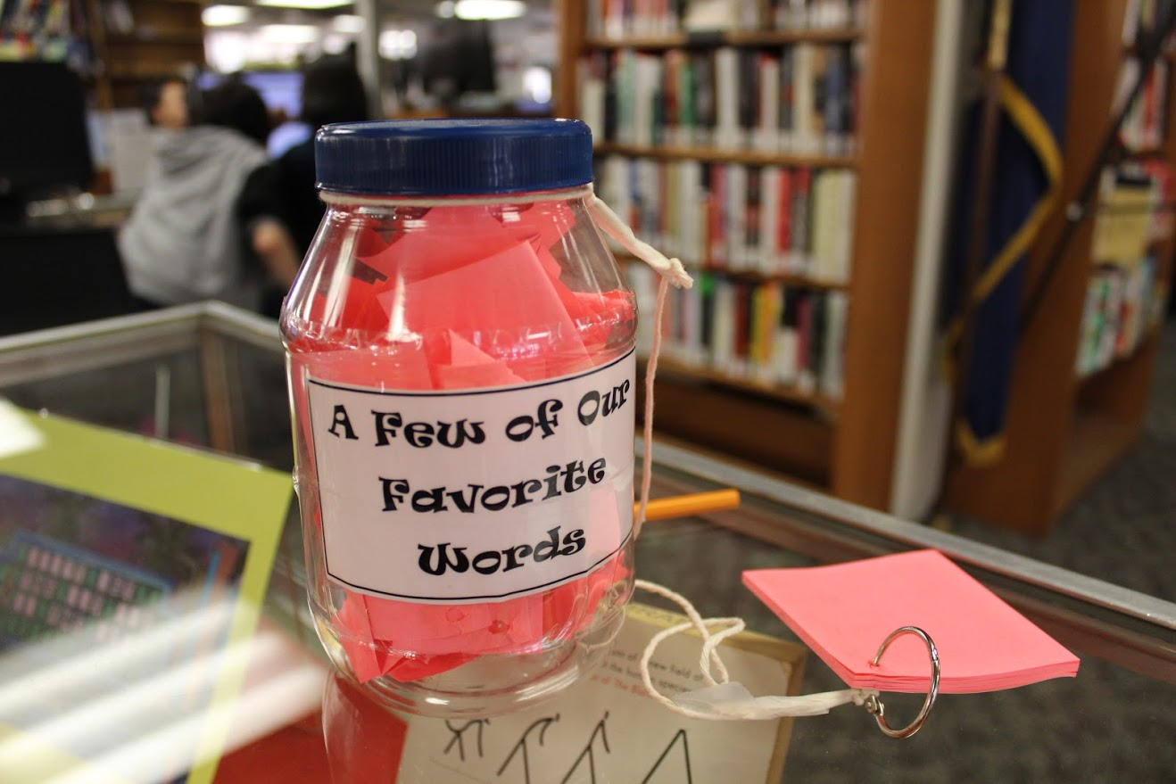 a jar to collect favorite words