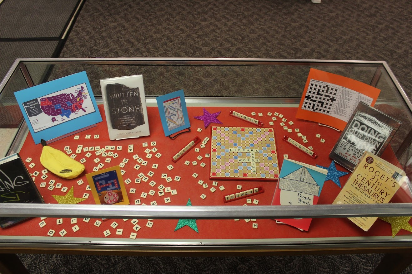scrabble in the display case