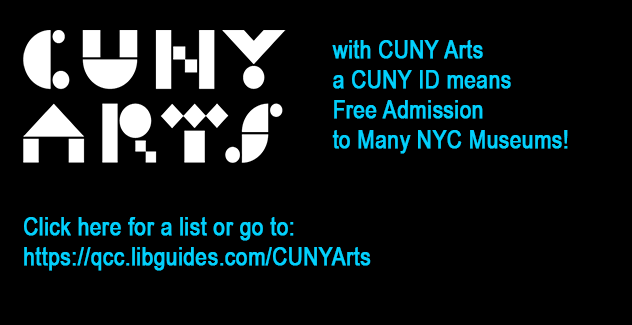 banner for CUNY Arts a program that offers free and discounted admission for those with a CUNY ID