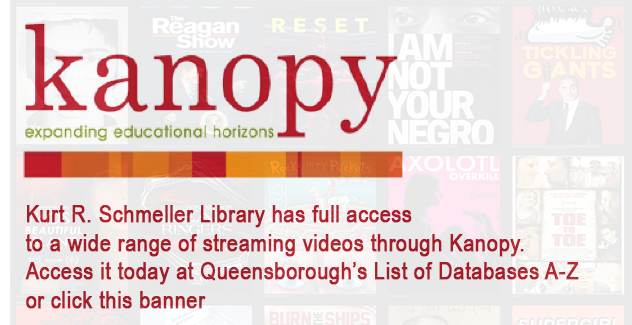 Banner for Kanopy film-streaming database