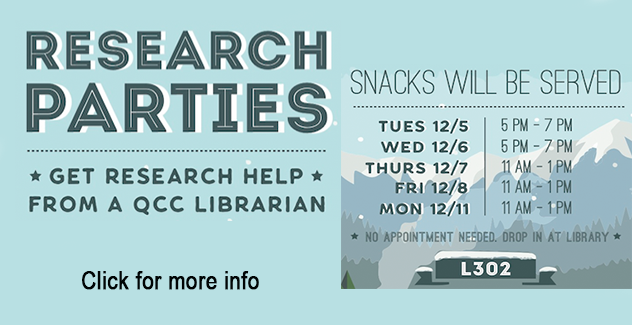 Banner for research parties