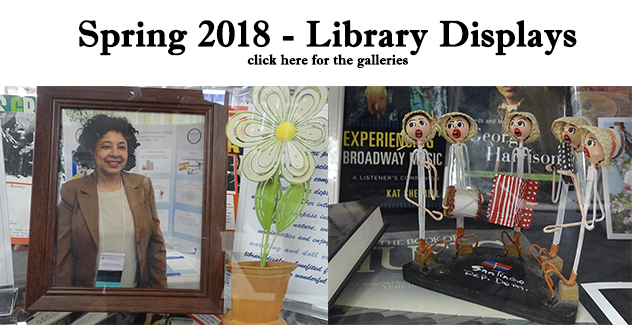 banner for spring 2018 library displays