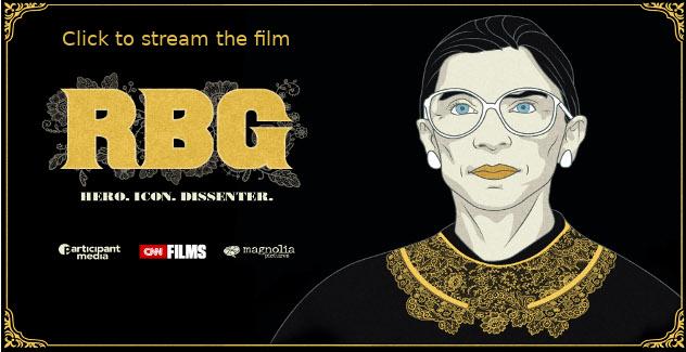 banner for the film RBG