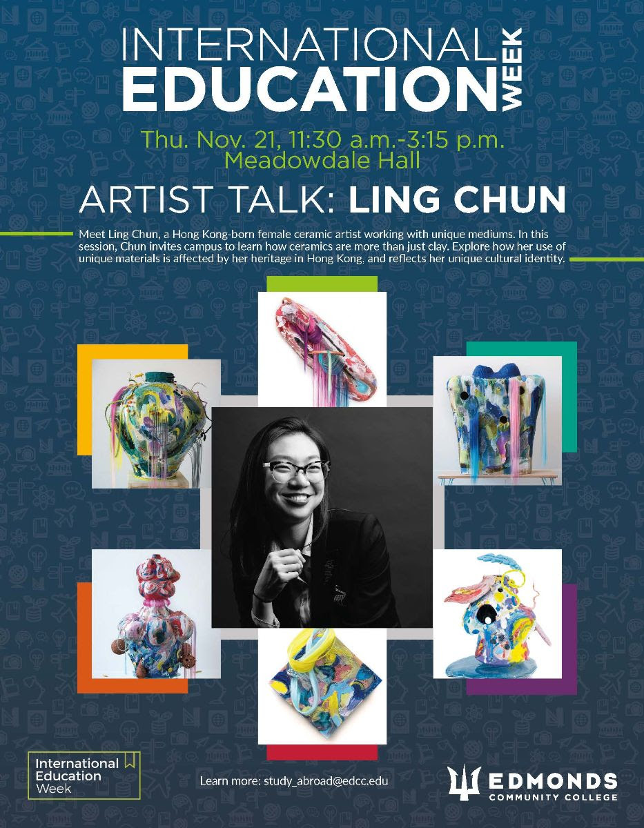 Artist Talk with Ling Chun is 11/21 at 11:30