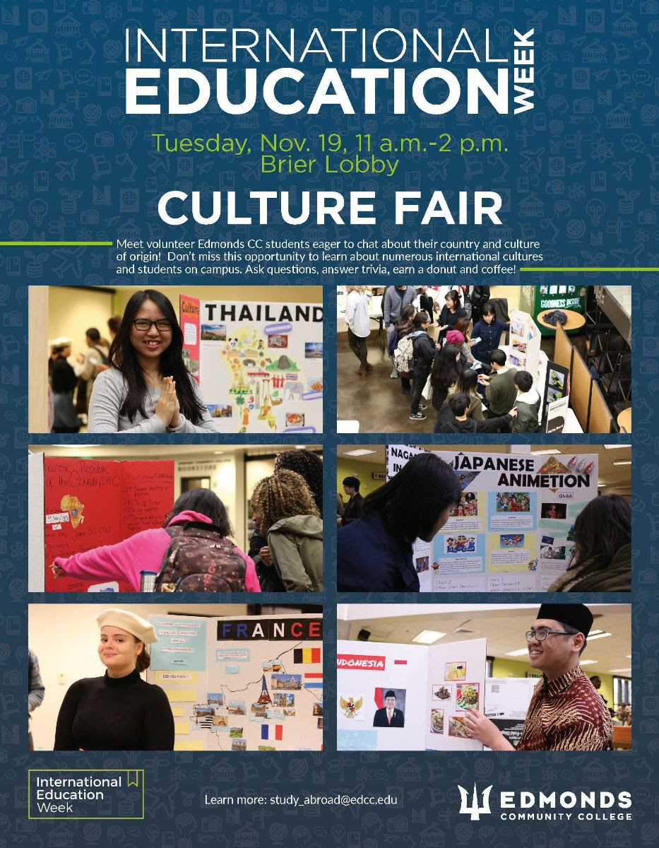 Culture Fair is November 19th from 11-2pm in Brier