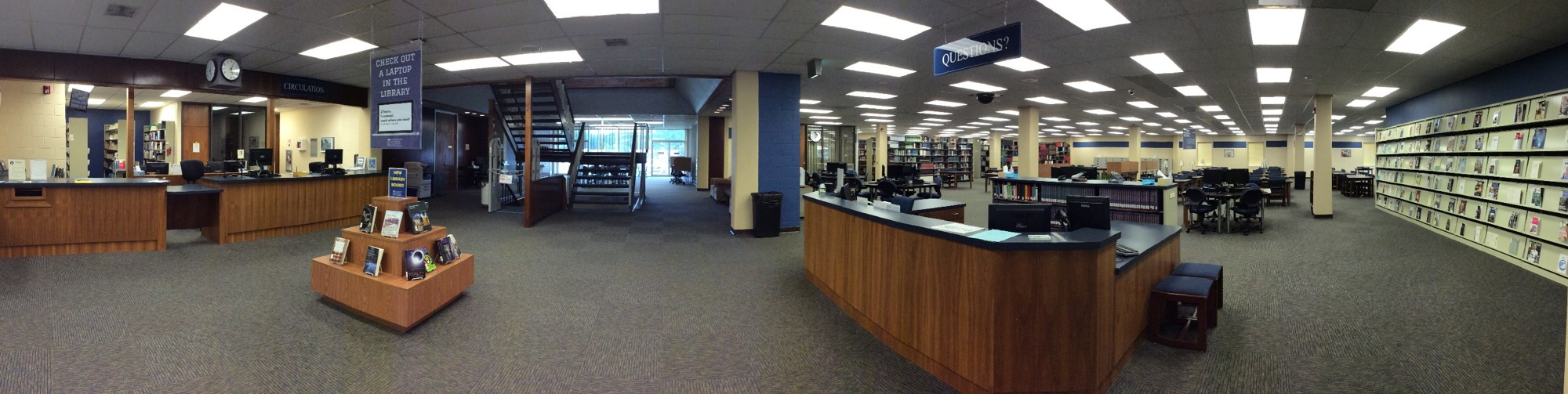 Panorama of the CSU Library's Main Level