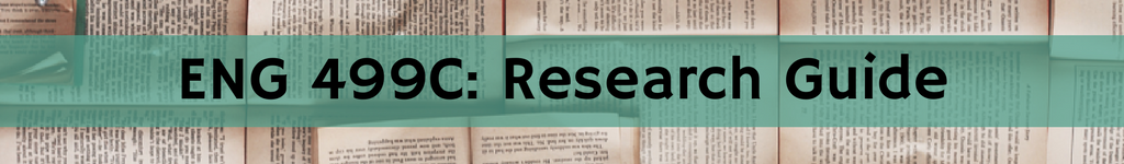Header: ENG 499C: Research Guide