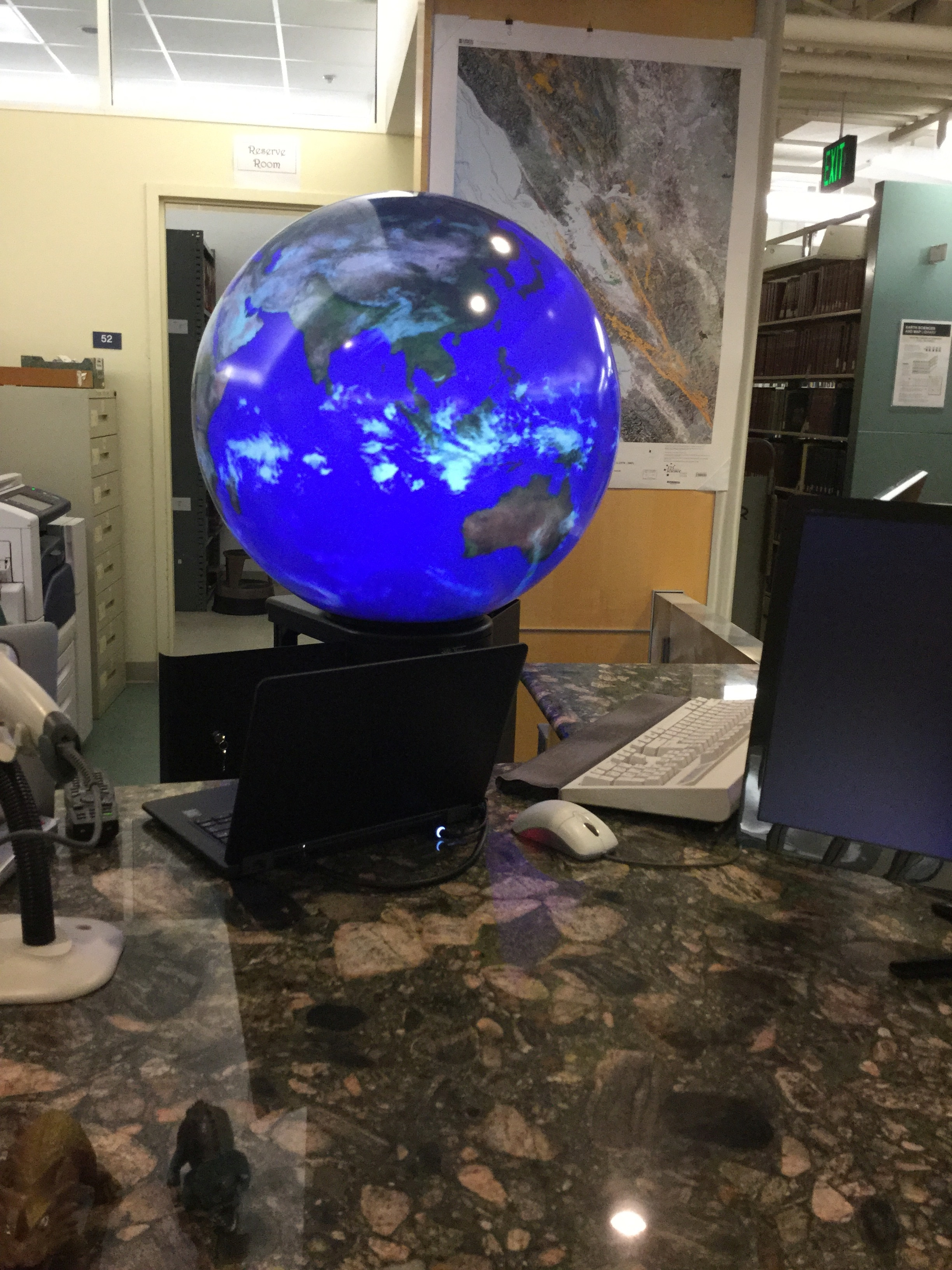 Digital Globe at Earth Sciences & Map Library