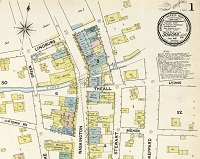 Snippet of Sanborn fire insurance map