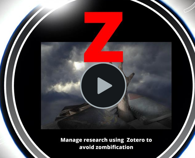 Images links to a video presentation on Zotero basics.
