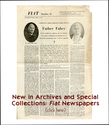 New in Archives and Special Collections Fiat Newspapers