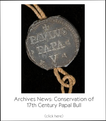 Archives News: Conservation of 17th Century Papal Bull