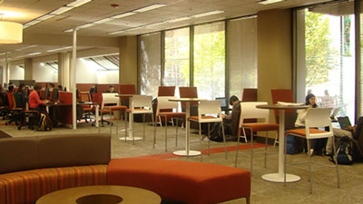 Interior of Woodruff Health Sciences Library
