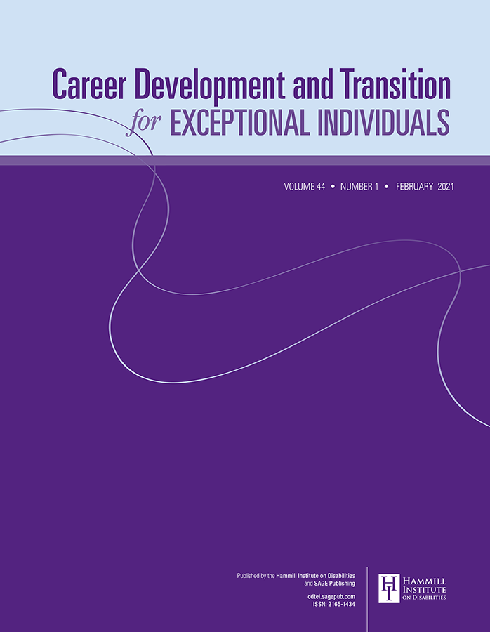 Career Development and Transition for Exceptional Individuals
