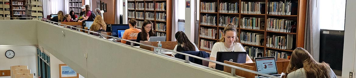 Students in DiPietro Library
