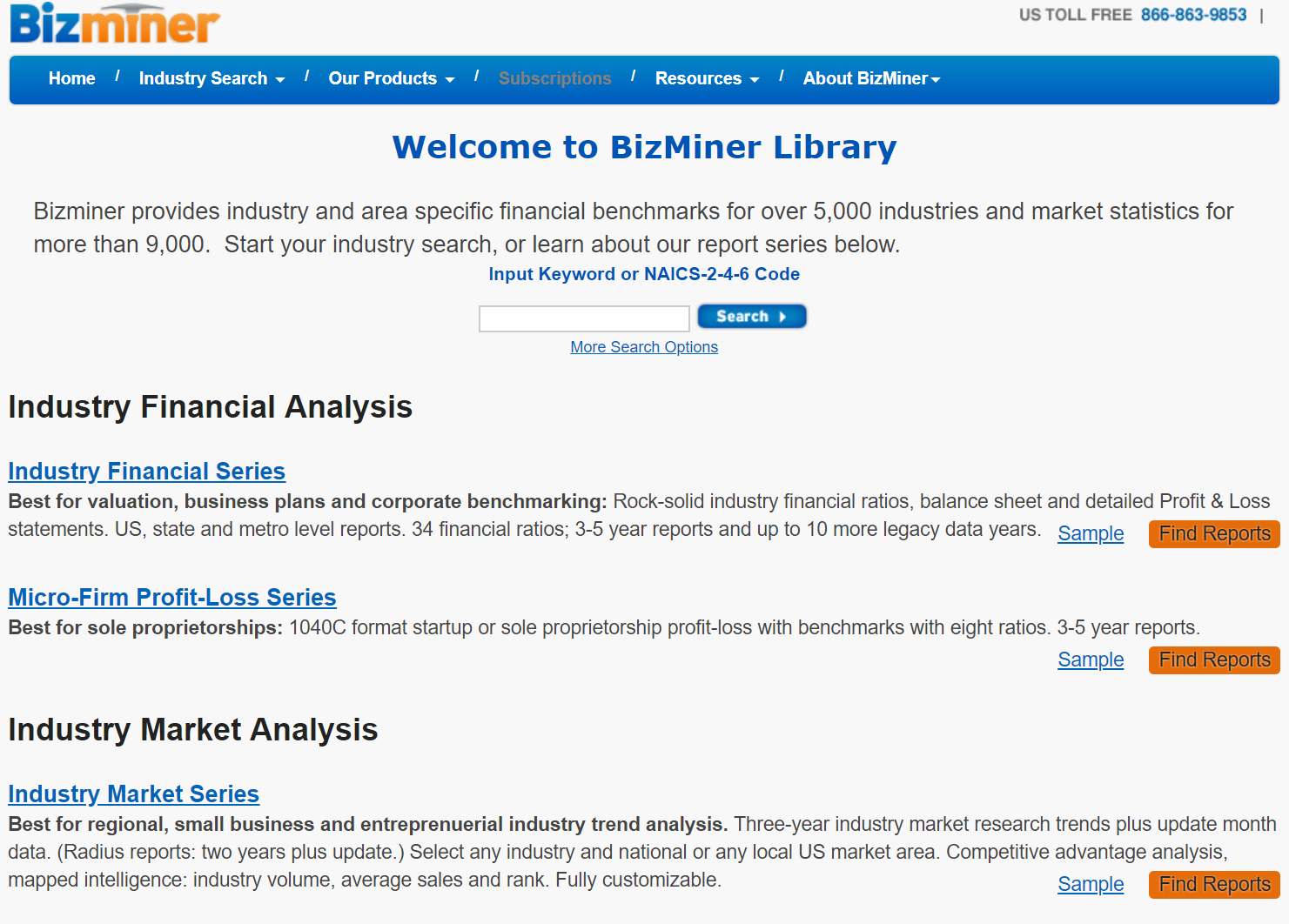 Bizminer screen image