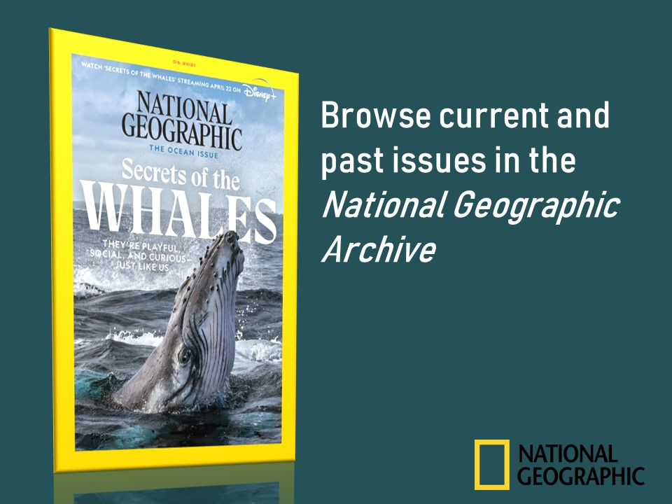 Announcement Poster National Geographic Archive