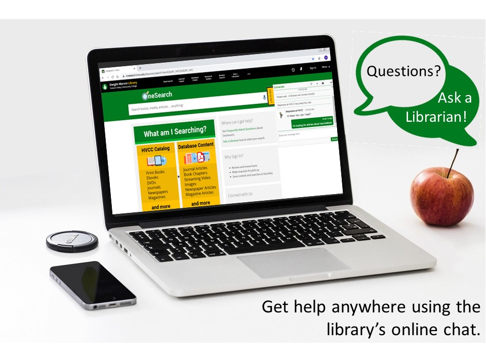 Research help available online anywhere