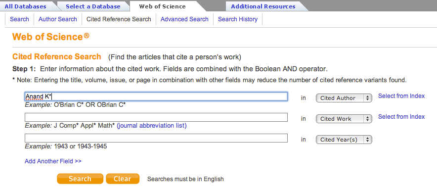 Search field highlighted with example text.