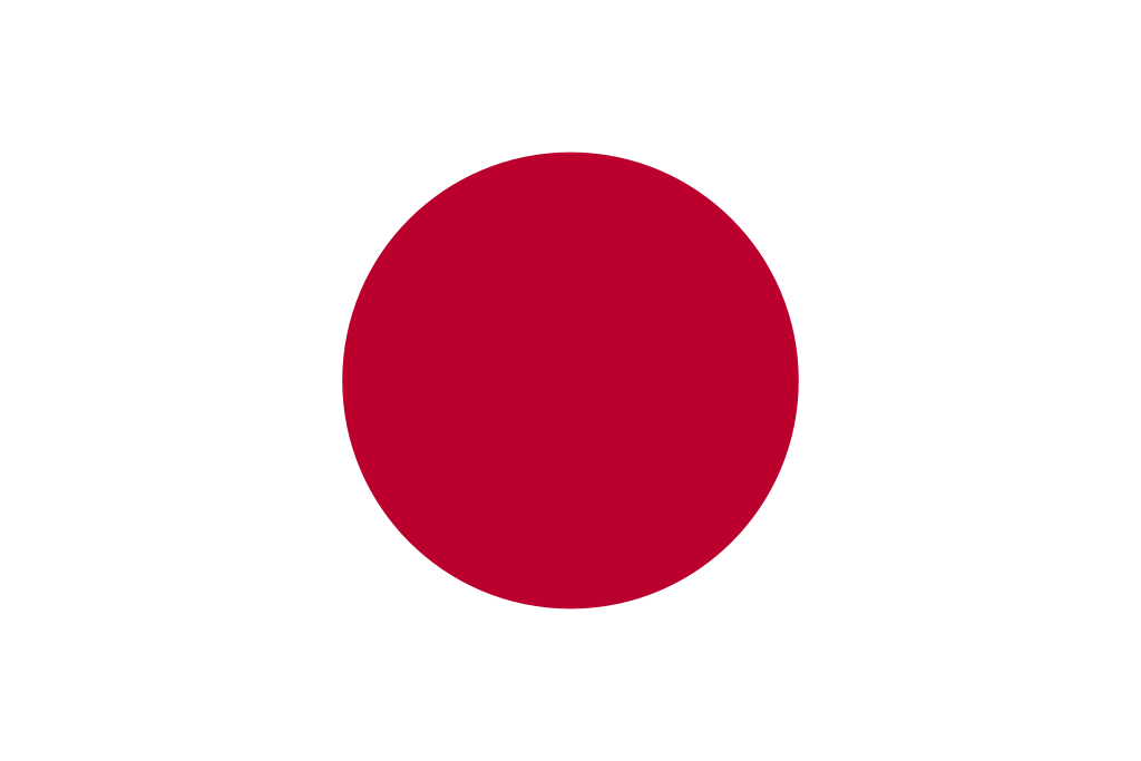 Flag of Japan, red circle on white background