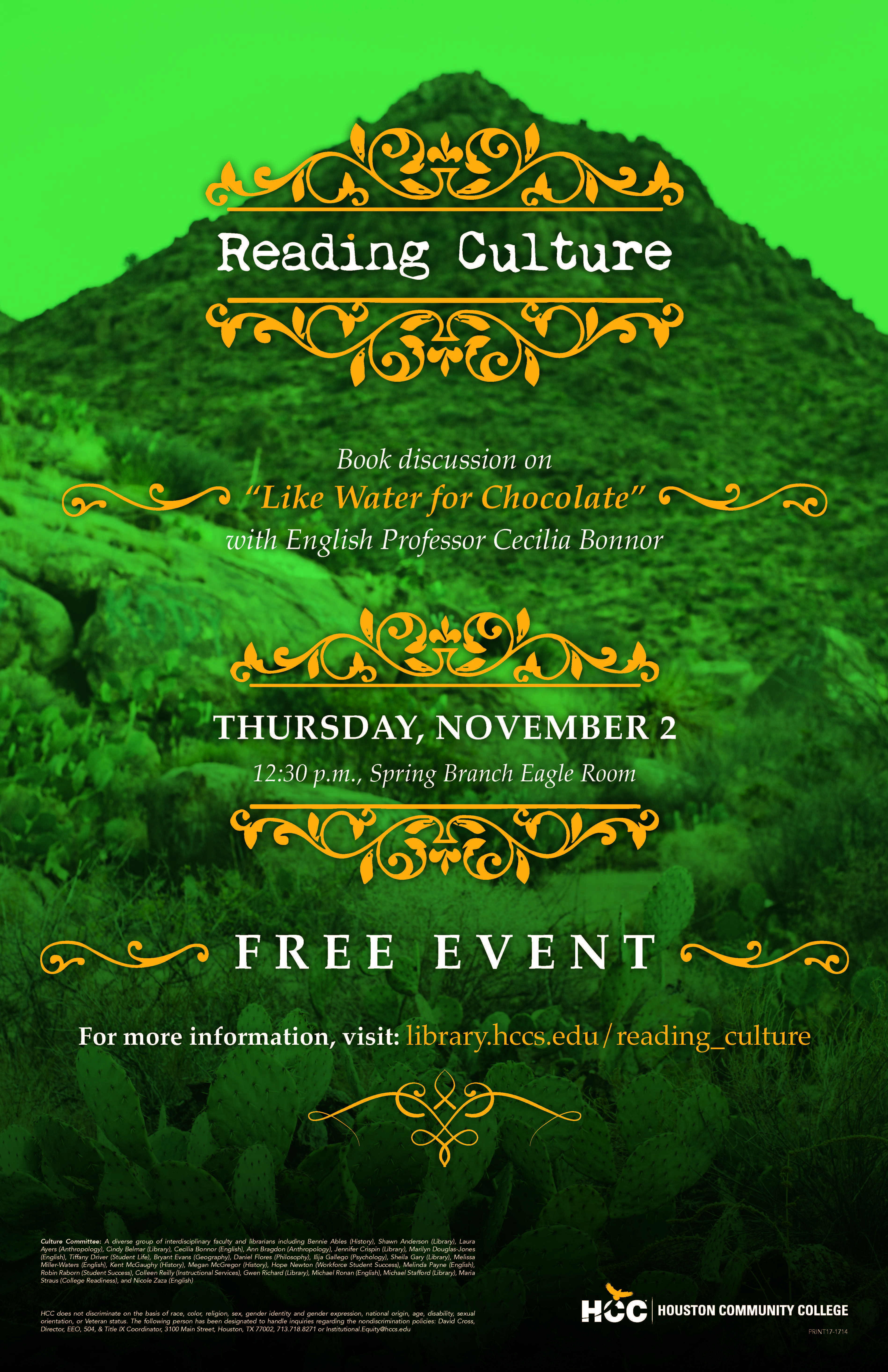 Reading Culture Nov 2 Event
